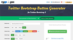 New Button Generator for Twitter Bootstrap 3